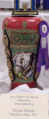 Carriage Driving Vase front