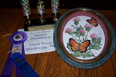 Butterfly and Thistle Plaque